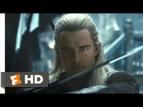 The Hobbit: The Desolation of Smaug - Legolas vs. the Orcs Scene (8/10) | Movieclips