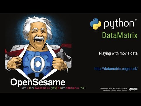 Data analysis with Python DataMatrix: Playing with movie data