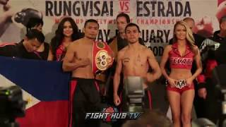 Donnie Nietes vs Juan Carlos Reveco weigh ins & face-off video