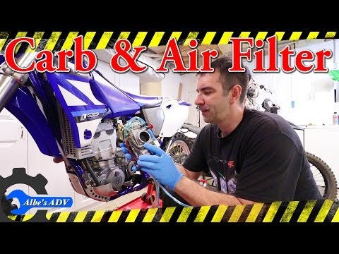 Yamaha YZ426F carb cleaning and air filter - Ep 6