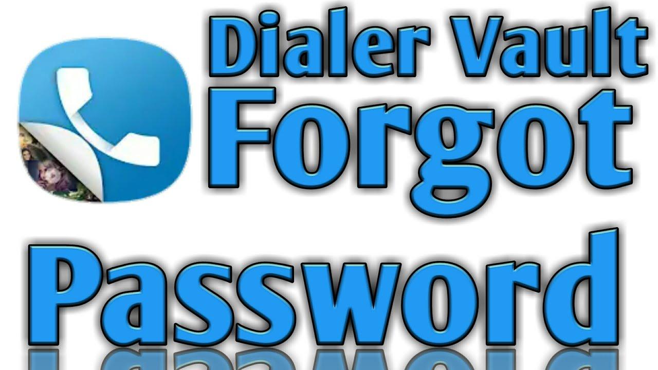 Dialer Vault Hide Photo Video App Forgot Password Youtube