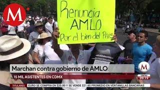 Marchan contra gobierno de AMLO en CdMx