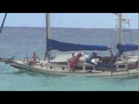 Loading S.V. Kelolo at Christmas Island