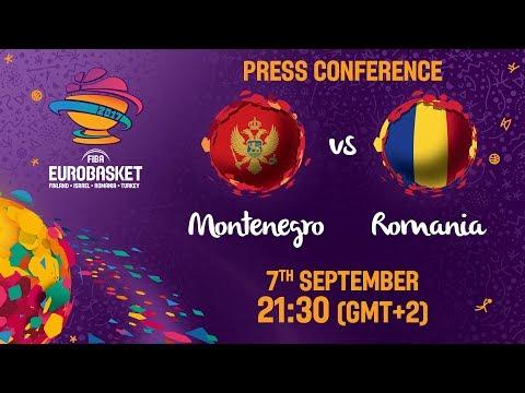 Montenegro v Romania - Press Conference - FIBA EuroBasket 2017
