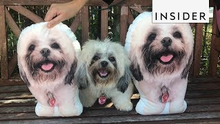 Print Your Dog on a Pillow