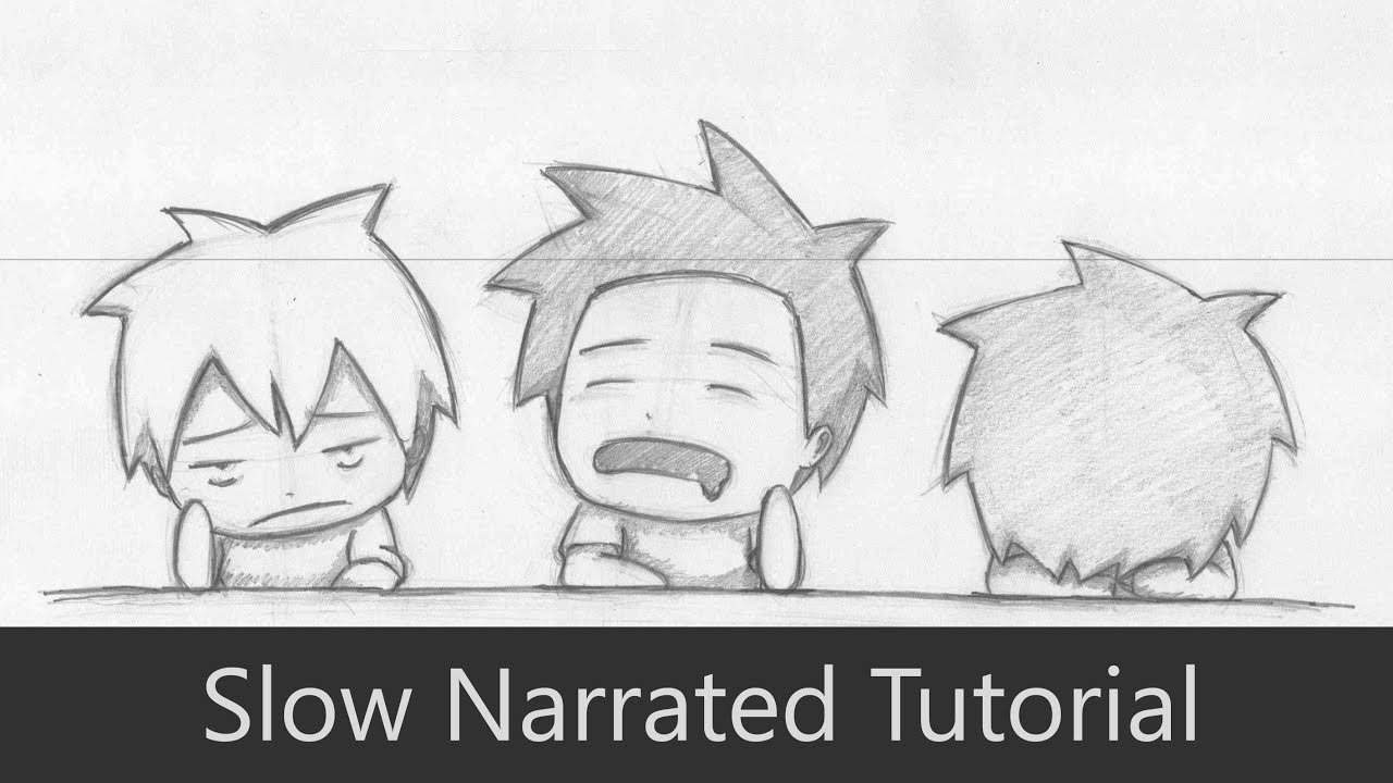 How to Draw 3 Bored Students at School [Chibi] [Slow ...