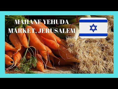 JERUSALEM, the very graphic ISRAELI MARKET of MAHANE YEHUDA