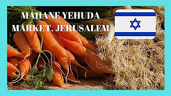 JERUSALEM, the very graphic ISRAELI MARKET of MAHANE YEHUDA