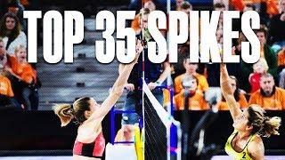 TOP 35 Spikes Womens • The Hague 4 Star 2018 • Beach Volleyball World