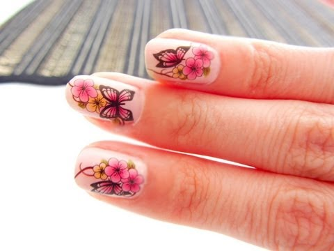 How To Ly Water Transfer Nail Art Stickers Decal