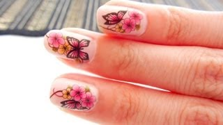 How To Apply Water Transfer Nail Art Stickers Decal