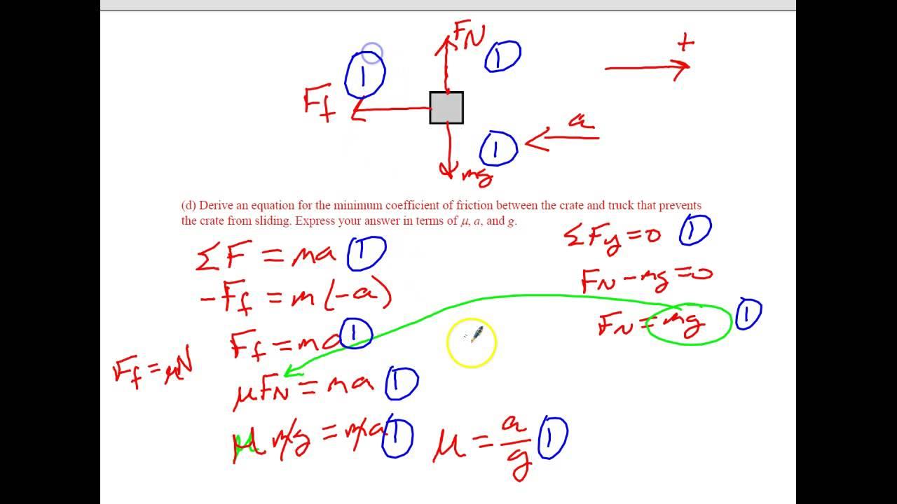 2008 Form B AP Physics 1 #2 Solution - YouTube