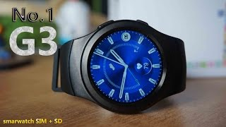No.1 G3, smartwatch con SIM y micro SD en $60 [Unboxing & Review]