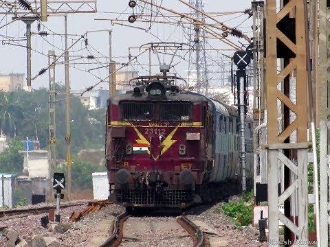 INDIAN RAILWAYS   12950 SRC-PBR Kaviguru Express with ET WAG-5P