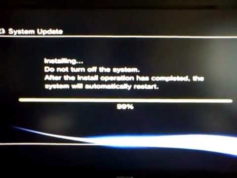 ps3 system update error - YouTube