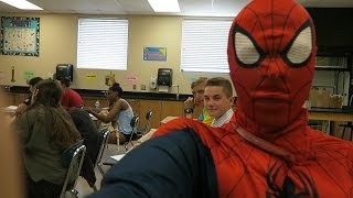 SPIDERMAN IN SCHOOL PRANK!