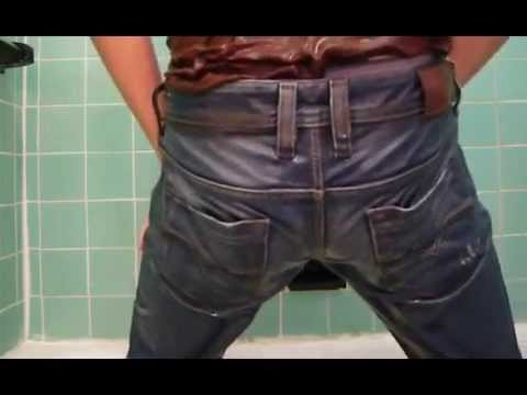 Mens Wet Look Jeans