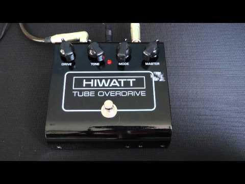 Hiwatt, Tube Overdrive pedal demo, Msm workshop