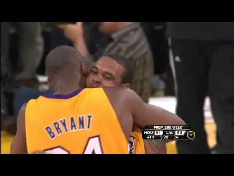 102610 Shannon Brown 4th Quarter Highlights Lakers Vs. Rockets HD