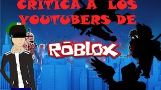 "Criticizes ""Roblox Youtubers""//Roblox Community on youtube//"