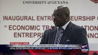 TWO DAY ENTREPRENUERSHIP & INNOVATION CONFERENCE TO BOOST FREE ENTERPRISE
