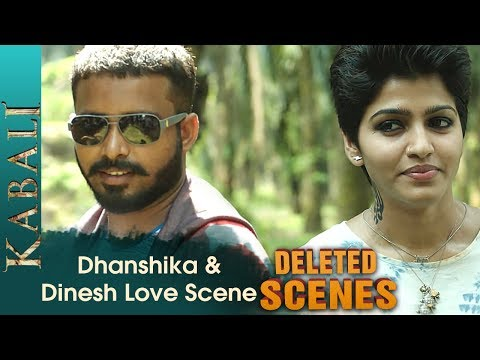 Dhanshika and Dinesh Love Scene | Kabali...