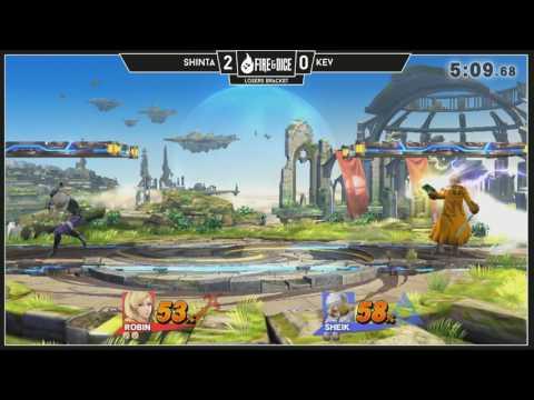 Smash 4 Arcadian: Shinta (Robin) v Kev (Toon Link, Sheik)