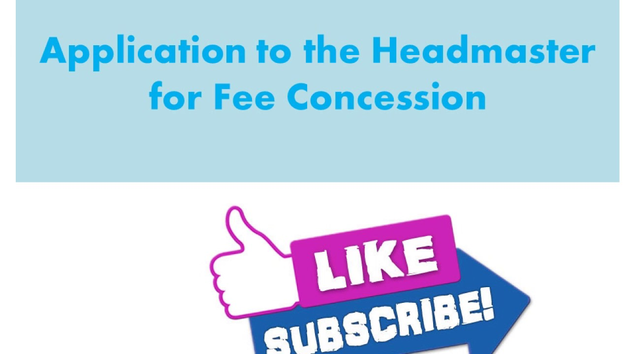 Application to the headmaster for fee concession in urdu hindi youtube application to the headmaster for fee concession in urdu hindi spiritdancerdesigns Image collections