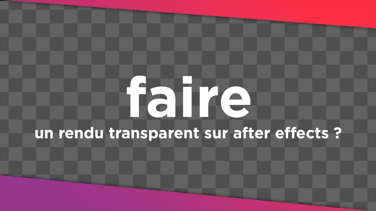 after effects how to make video transparent