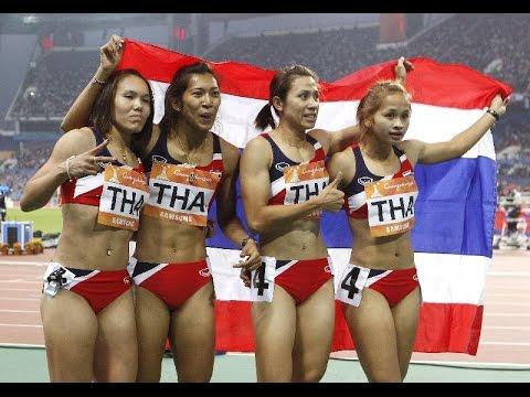วิ่งผลัด 4X100 เมตรหญิง รอบชิงชนะเลิศเอเชี่ยนเกมส์ 2010 (Asian Games 2010)