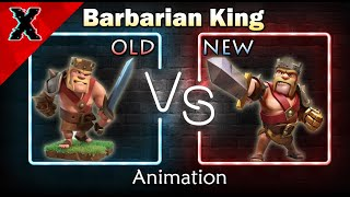 Clash of Clans - Barbarian King Animation before and after!
