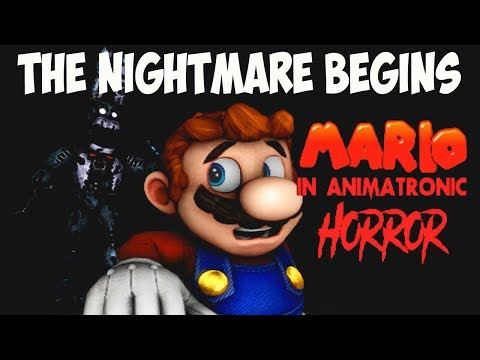 MARIO IN ANIMATRONIC HORROR - THE NIGHTMARE BEGINS ( DEMO ) | CHAPTER 1 - OUT FROM THE RABBIT HOLE!!