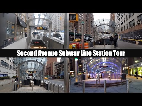 MTA New York City Subway: Second Avenue Subway Line Station Tour
