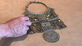 Custom Framing a Tribal Necklace from Central Asia