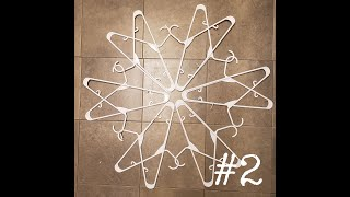 #2 snowflake out of hangers how to