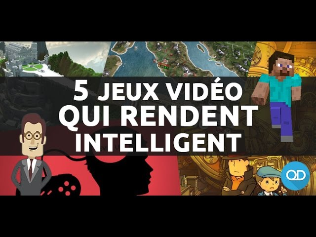 5 jeux qui rendent INTELLIGENT !