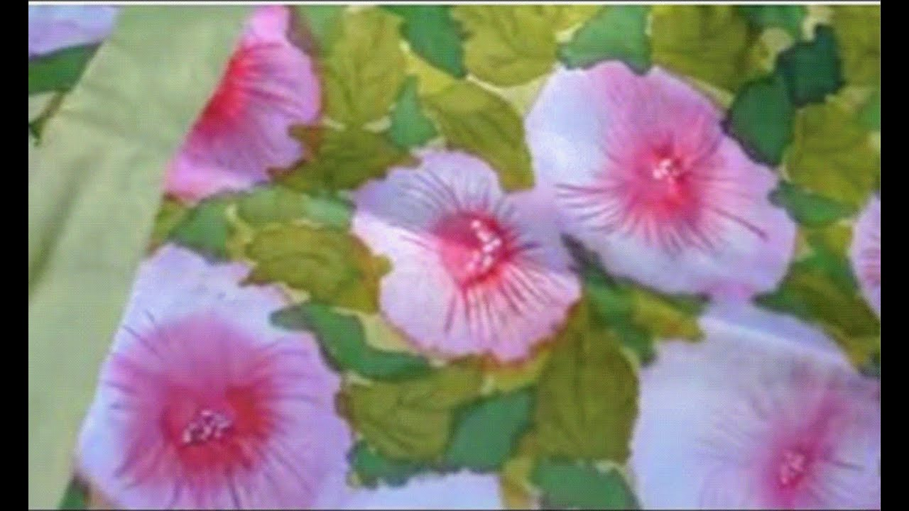 Silk Painting Without Using Gutta Youtube