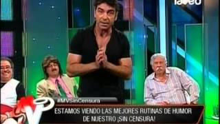 Jorge Alis sin censura en Mentiras Verdaderas