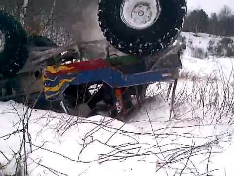 CRAZY JEEP CJ7 with 700 HP ROLLOVER