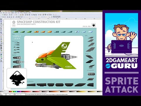 SpaceShip Construction Kit - quick assembly of space ships by 2Dgameartguru