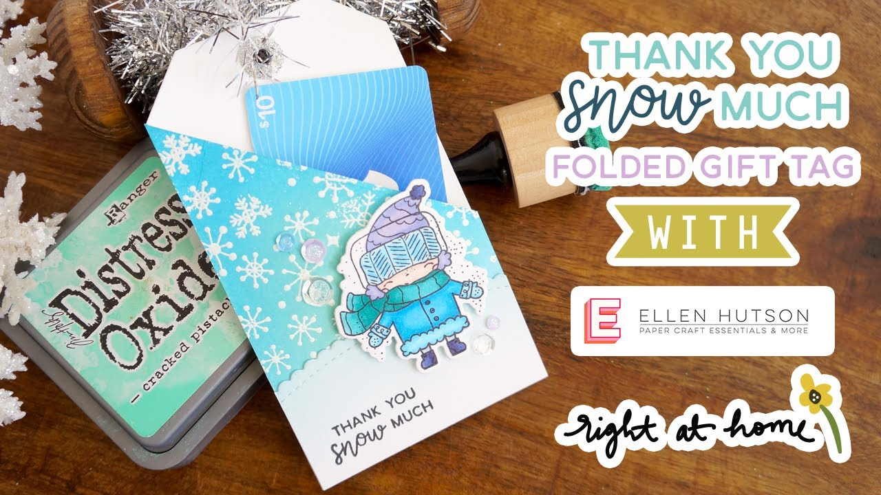 thank you snow much folded gift tag 12 days of christmas tags