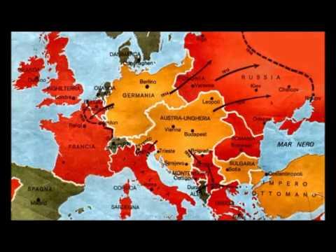 Cartina Geografica Prima Guerra Mondiale.Prima Guerra Mondiale Youtube