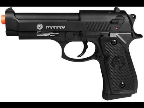 Where To Find Gas >> Airsoft Taurus PT92 Spring Metal Slide Pistol Review - YouTube