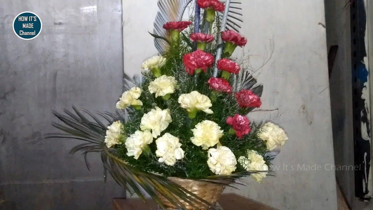 How Its Made Flower Bouquet Carnation Flower Bouquet Making