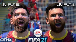 FIFA 21 | PS5 vs PS4 | Amazing NEW Gameplay and Graphics Comparison  @Onnethox