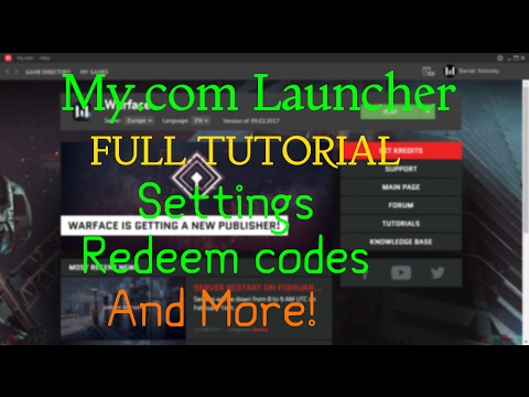 Warface - My.com Launcher Tutorial - Settings , How To Redeem Codes And More thumbnail