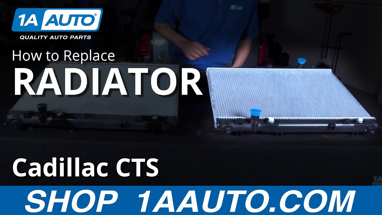 How to Replace Install Radiator 0406 Cadillac CTS  YouTube