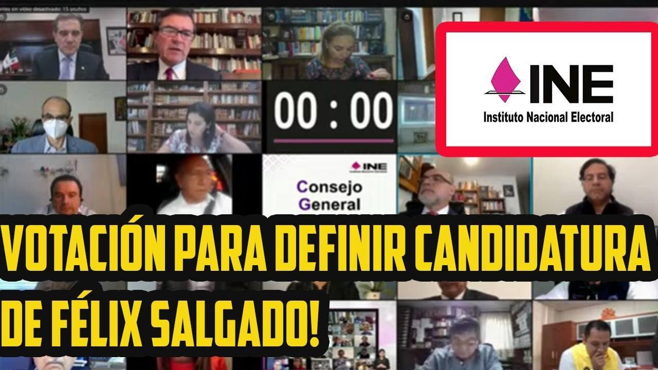 EN VIVO  INE: CASO FELIX SALGADO Y SU CANDIDATURA.