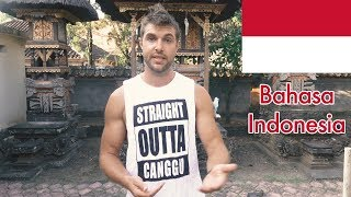 Canadian Teaches Bahasa Indonesia! (Language Challenge Pt. 1)