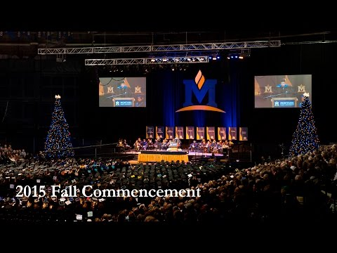 Montana State University 2015 Fall Commencement Photo Slideshow
